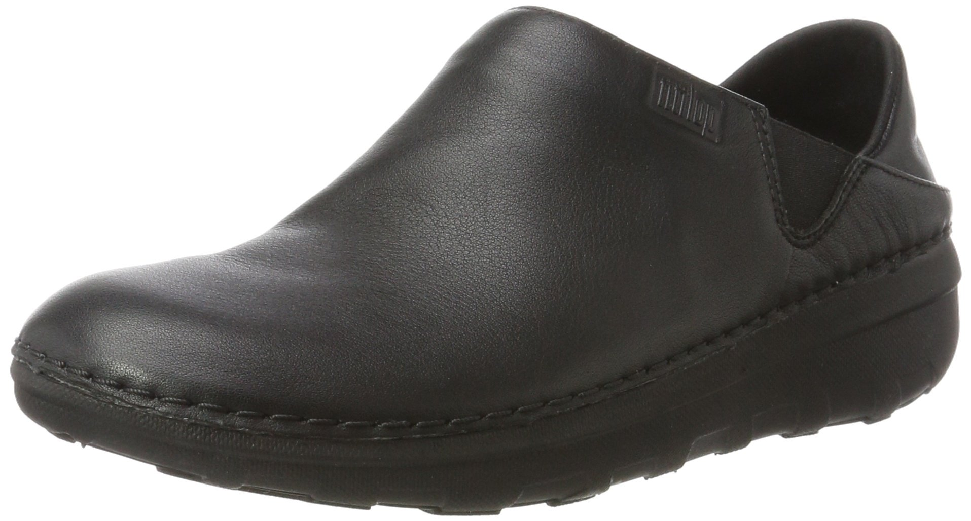 FitFlop Women's SUPERLOAFER Medical Professional Shoe, All All Black, 8.5 M US