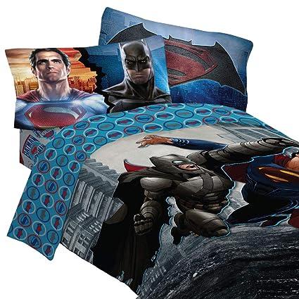 amazon com dc comics batman vs superman 4pc bedding set
