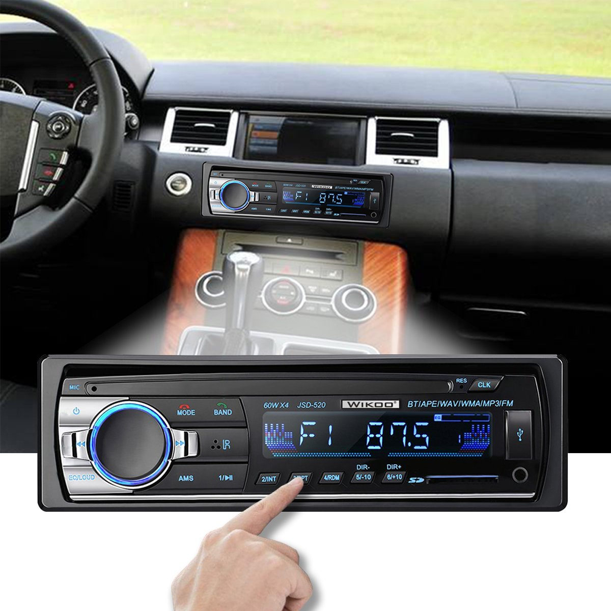 Digital Car Stereo - Wikoo Single-Din Bluetooth Car Stereo In Dash with Remote Control - Receivers USB/SD/Audio - MP3 Player/FM Radio, Supports Hands Free Calling by Wikoo (Image #6)