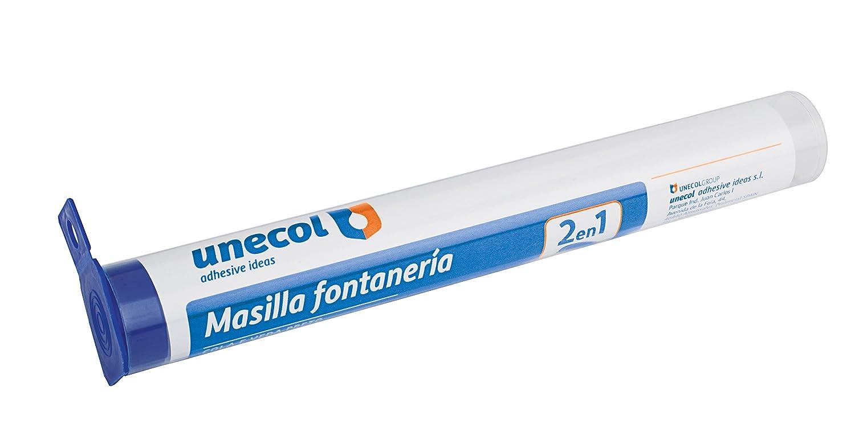 Unecol 8121 Masilla epoxi rá pida (Tubo con Colgador), Gris, 125 g Unecol Adhesive Ideas