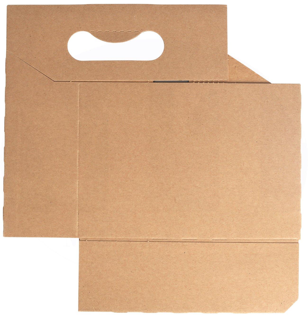 6 Bottle Holder Kraft Cardboard 12 oz. Beer or Soda Bottle Carrier for Safe And Easy Transport, 6 pack carrier by MT Products – (10 Pieces)