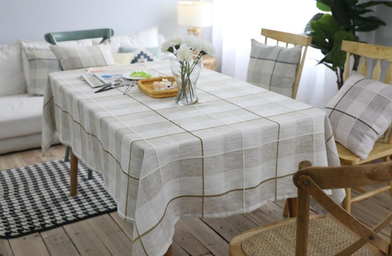 salida para la venta Moderno Moderno Moderno Algodón Pastoral Tela Escocesa Minimalista Moda Hogar Mantel Café,Coffee-35.4in59in  mejor moda