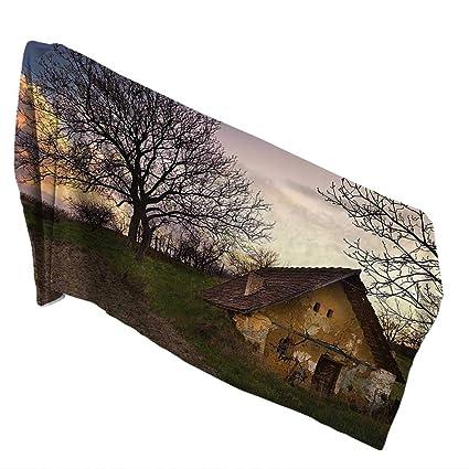 Amazoncom 100 Cotton Bath Towel 315 X 63 Inchrustic Home Decor - 100-wood-and-stone-house