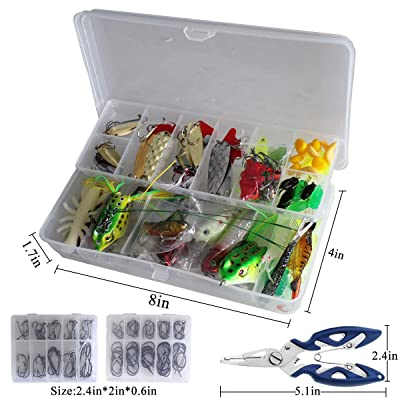 Meshes Fishhook Carp Fishing Accessories Kit With Tackle Box Fishing Equipment