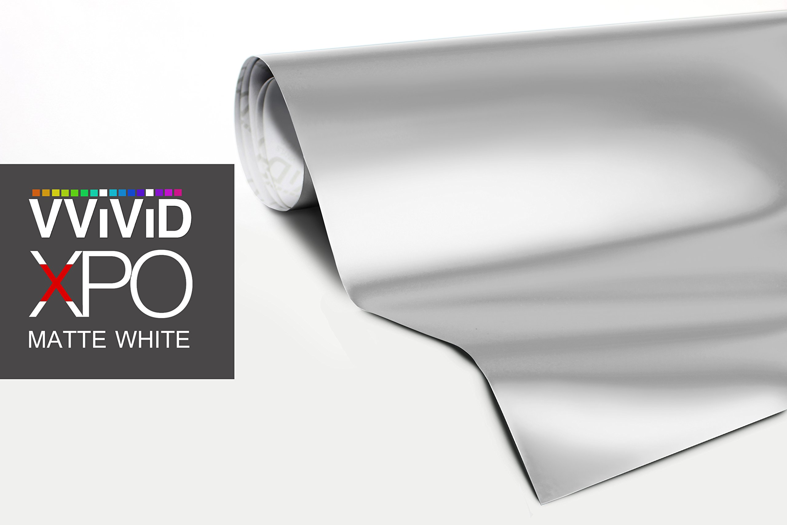 Matte White Car Wrap Vinyl Roll with Air Release 3MIL-VViViD8 (50ft x 5ft (Full Car Wrap Kit))