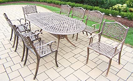 amazon com oakland living mississippi 9 piece dining set with 84 by