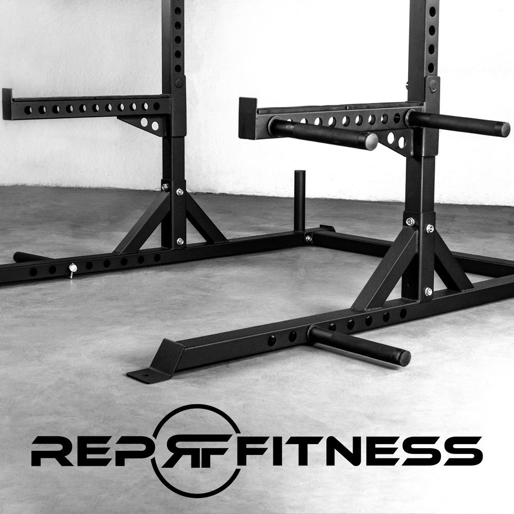 Rep Squat Rack with Pull Up Bar and Flat Bench - 110 in by Rep Fitness (Image #3)