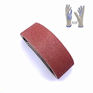 3x21 Sanding Belt,Aluminum Oxide Sandpaper for Belt Sander 3x21,40 80 120 150 240 Grits,10 Pack(3x21 Inch)
