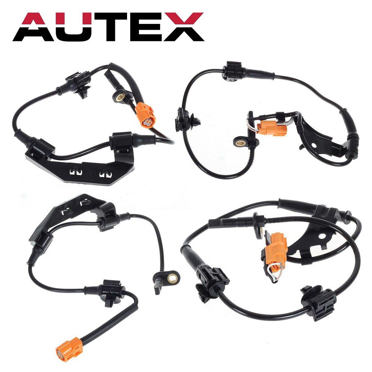 AUTEX 4Pcs ABS Wheel Speed Sensor Rear & Front 57470-S9A-013 ALS1101 compatible with 2002 2003 2004 2005 2006 Honda CRV L4-2.4L