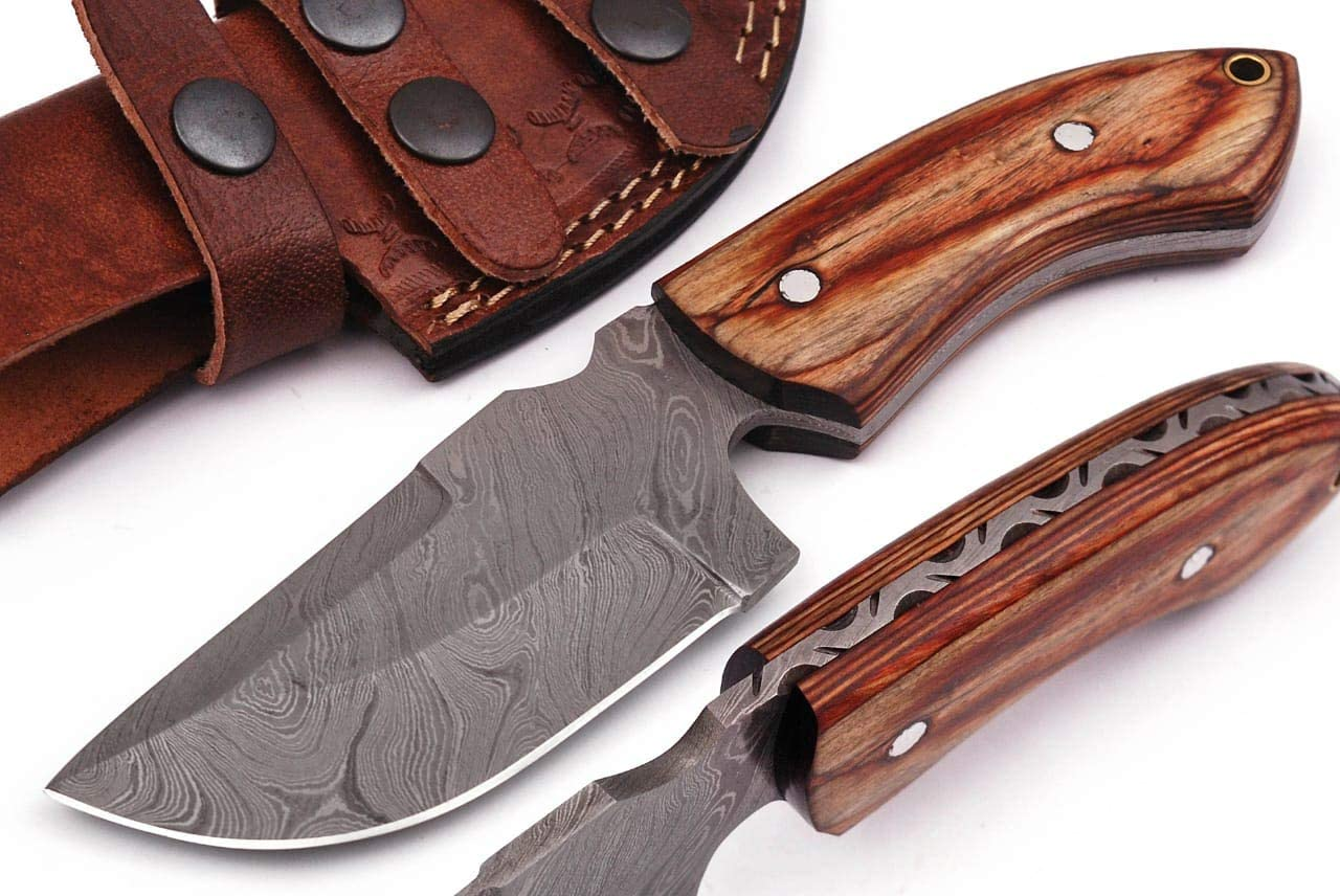 Grace Knives Handmade Damascus Steel Hunting Knife 8 Inches G-06L