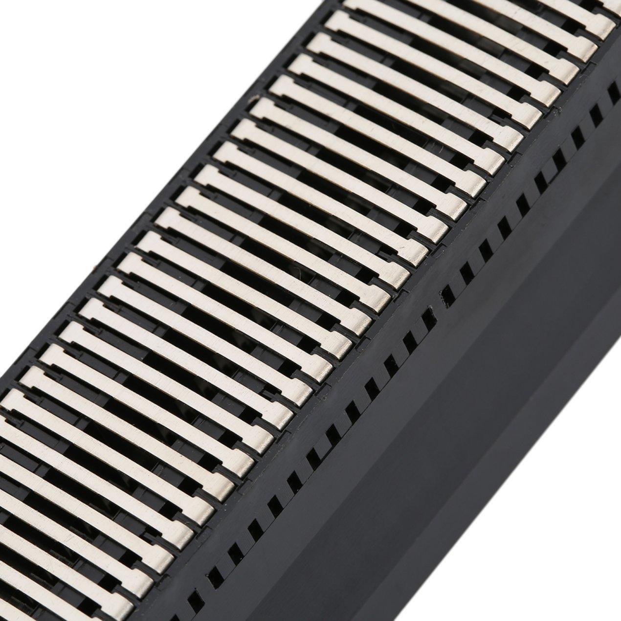 Dooret Conector ranurado DE 72 Pines para el Sistema de Entretenimiento NES Conector Adaptable de Ranuras de Repuesto Resistente Big Wolf Dog