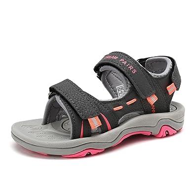 b520f571f8f DREAM PAIRS Toddler 170891 K Dark Grey Light Grey Coral Fashion Athletic Sandals  Size 8 M US