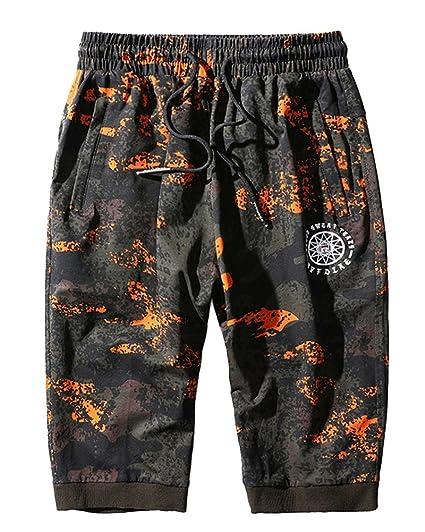 Hombre Cortos Bermuda Militar Jogging Bolsillos Pantalones Estilo rZFqwtRxr
