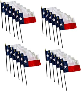 product image for Set of 24 4x6 E-Gloss Texas Stick Flag - Flag Only - Proudly Made in The USA