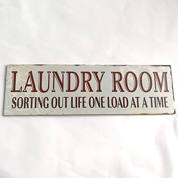 Amazon.com: WINOMO sala de lavandería cartel de madera ...