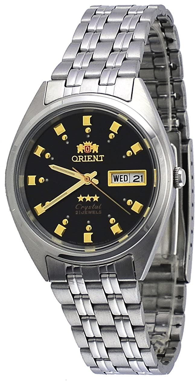 Amazon.com: Orient #FAB00009B Mens 3 Star Stainless Steel Black Dial Self Wind Automatic Watch: Watches