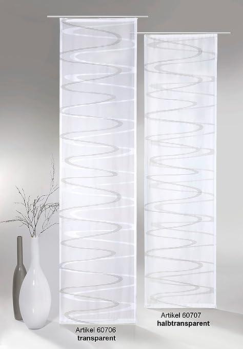 Fashion And Joy Flächenvorhang Modern Wave Inkl Universal Zubehör Hxb 245x60 Cm In Anthrazit Grau Transparent Schiebegardine Web Scherli Welle
