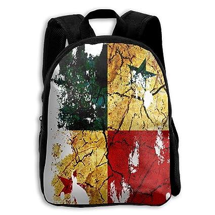 Bandera de Panamá niños escuela mochila Bookbag ajustable correas de hombro bolsa mochila