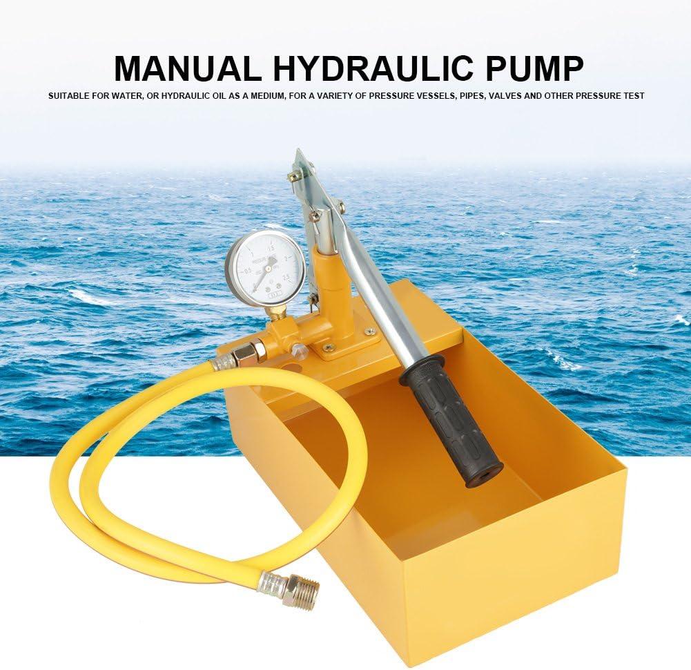 Pompe dEssai de Pression,Walfront Outil Manuel dEssai de Pression Pompe dEssai dEau Hydraulique de 2.5Mpa 25KG