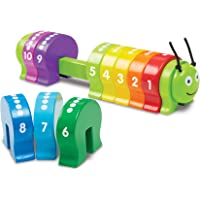 Melissa & Doug 9274 Counting Caterpillar - Classic Wooden Toy With 10 Colorful Numbered Segments