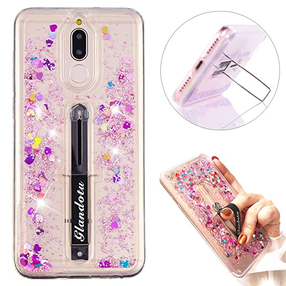 scarpe sportive 6b88e be924 Mate 10 Lite Case Creative Flowing Liquid Glitter Quicksand Scalable Ring  Buckle Shock Absorbing With Kickstand Feature Soft Bumper Protective Cover  ...
