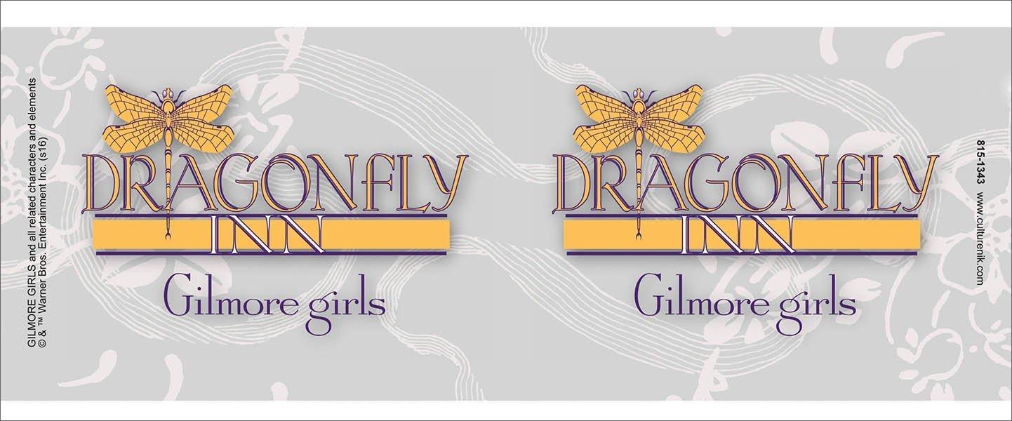 Mug Gilmore Girls Dragonfly Inn Logo Comedy Drama TV Television Show Ceramic Gift Coffee Tea, Cocoa 11 Ounce