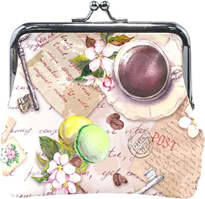 Retro Floral Credit Cards Buckle Coin Purse For Womens