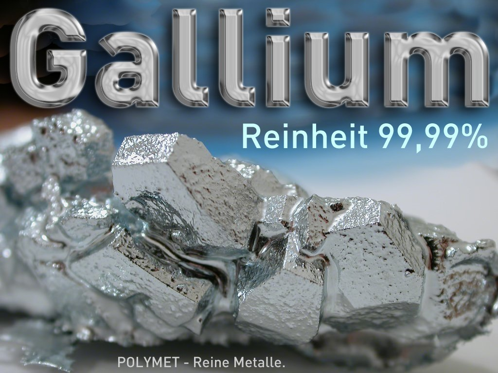 Gallium 10 g, High purity Element #31, Ga 99.99%, Ga 4N5, Low Melting Point Metal, Liquid Metal Polymet - Pure Metals.