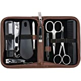 3 Swords Germany - brand quality 10 piece manicure pedicure grooming kit set for professional finger & toe nail care…