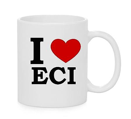 I taza del corazón ECI (amor): Amazon.es: Hogar