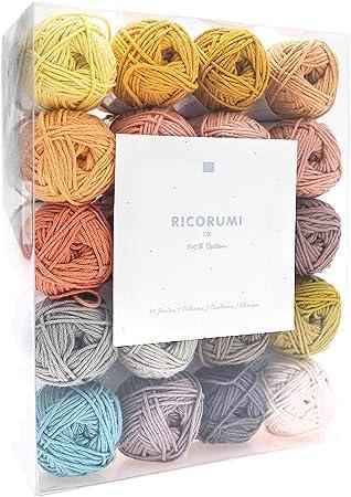 Ricorumi - Juego de Hilos de algodón (25 g), 20 Colores: Amazon.es: Hogar