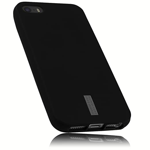 mumbi Schutzhülle für iPhone 5 5S SE Hülle anthrazit