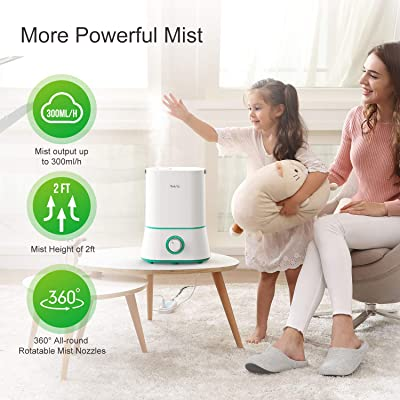 iTeknic Humidifiers, Upgrade Ultrasonic Cool Mist Humidifier for Bedroom Baby