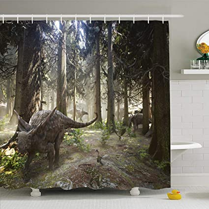 "72X72/"" White Wood Forest Shower Curtain Waterproof Fabric Bathroom Decoration"