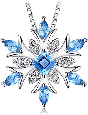 Solid 925 Sterling Silver Diamond and Aquamarine Blue March Gemstone Oval Pendant Charm 10mm x 4mm