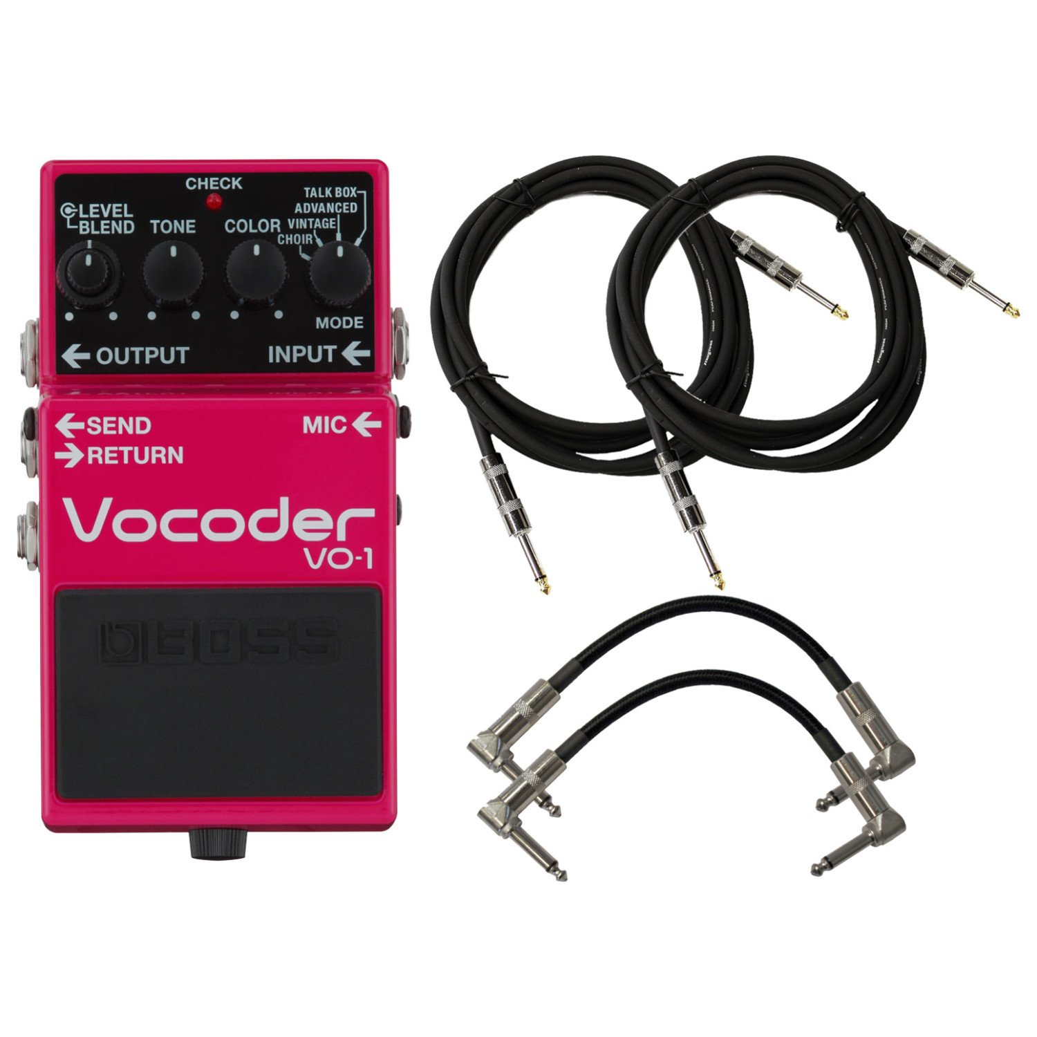 Boss VO-1 Vocoder Effect Pedal w/ 4 Cables