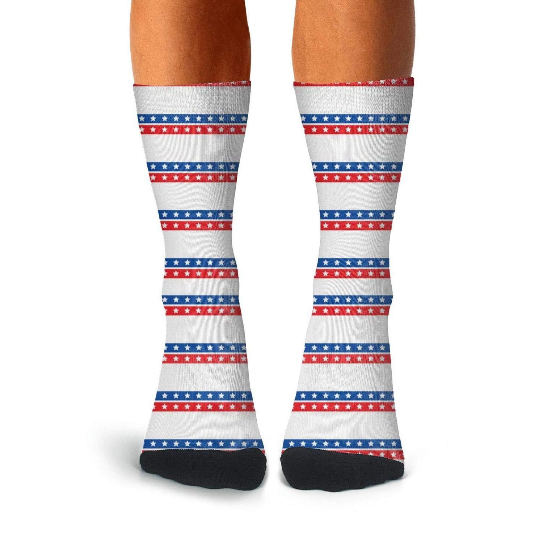 KCOSSH American flag Novelty Crew Sock Casual Calf Socks for Men