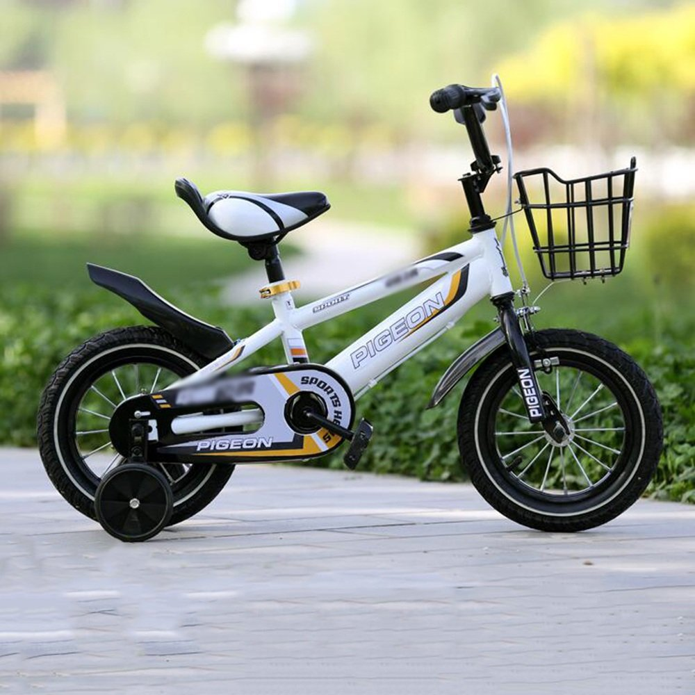 HAIZHEN マウンテンバイク 男の子、女の子用キッドバイク、12インチ、14インチ、16インチ、18インチ、85%組み立て、5色の子供用ギフト 新生児 B07C45C1SY白 18 inch