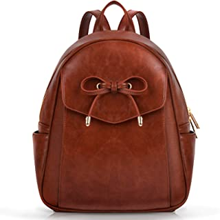 Mini Backpack,COOFIT Leather Backpack Girls Backpack Ladies Rucksack School Bag Small Backpacks for Women