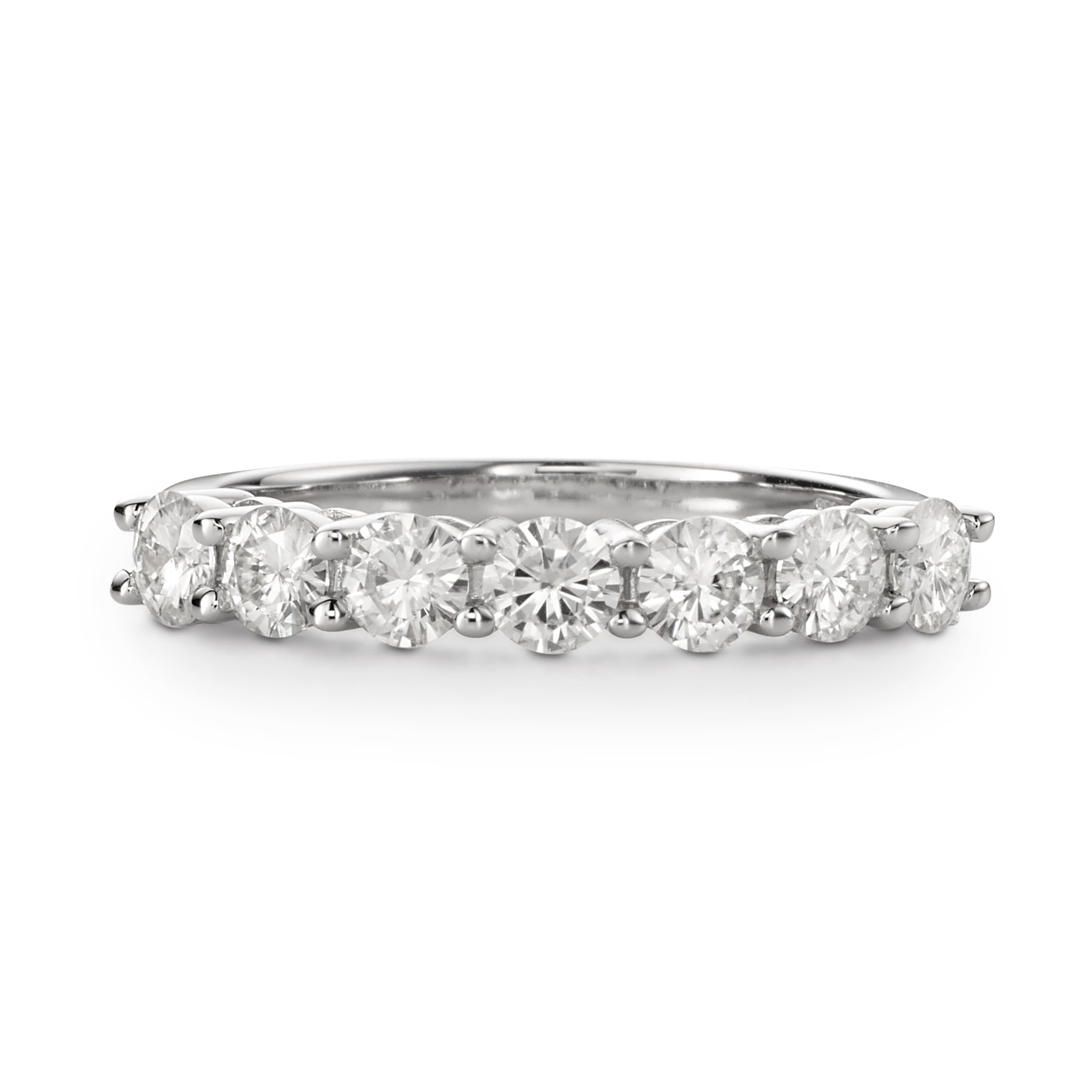 Forever Brilliant Round 3.5mm Moissanite Wedding Band - size 8, 1.12cttw DEW by Charles & Colvard