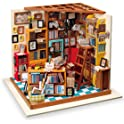Rolife Library Woodcraft Construction Kit