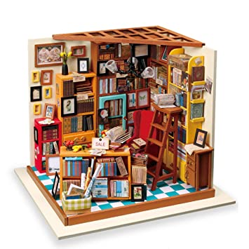 Amazon Com Rolife Diy Miniature Room Set Woodcraft Construction Kit
