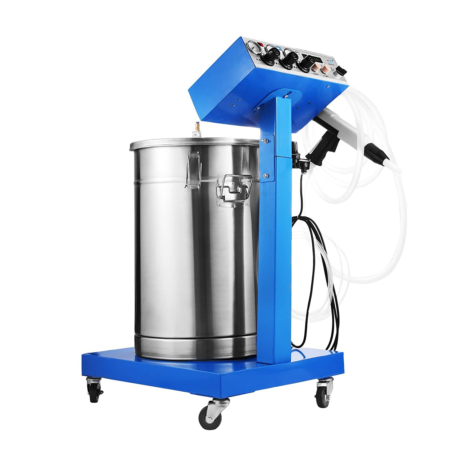 Mophorn Powder Coating Machine 50W 45L Capacity Electrostatic Powder Coating Machine Spraying Gun Paint 450g/min WX-958 Powder Coating System (50W 45L)