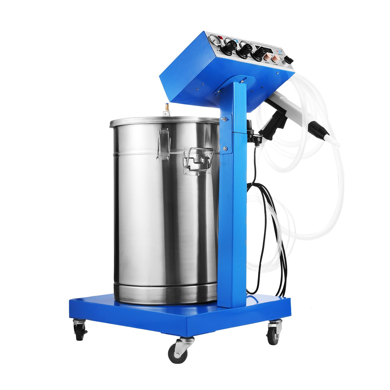 BestEquip Powder Coating Machine WX-958 50W 45L Capacity Electrostatic Powder Coating System with Spraying Gun 450g/min Electrostatic Machine