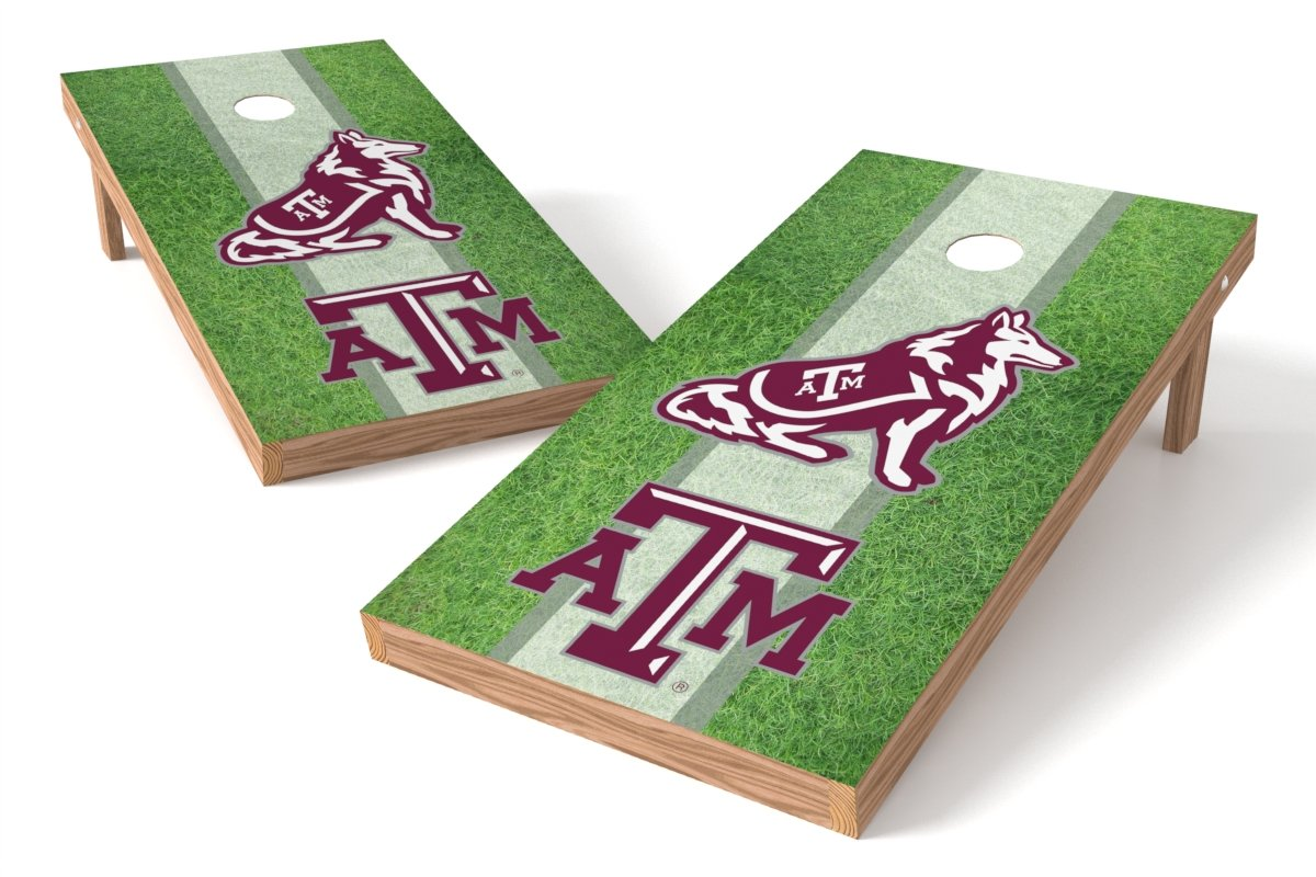 Wild Sports NCAA College Texas A&M Aggies 2' x 4' Field Authentic Cornhole Game Set