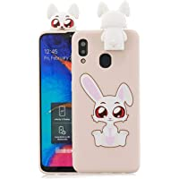 Jorisa Case Compatible with Samsung Galaxy A20/A30,Cute Animal Rabbit Pattern with Lovely 3D Cartoon Stand Back Case…