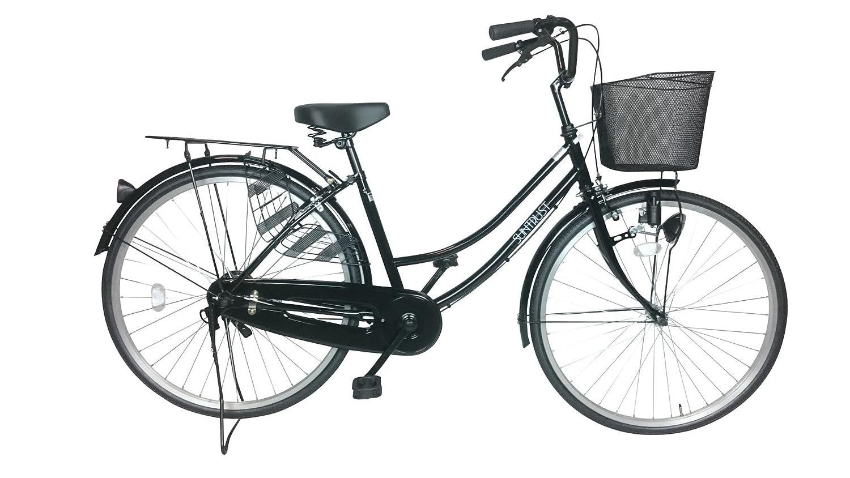 シンプルな自転車 ブラック 26インチ サントラスト スソ B01N6U46PE