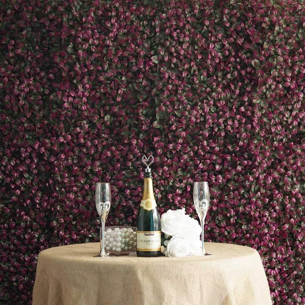BalsaCircle 4 緑と紫のボックスウッドの葉 壁の背景パネル 写真の背景 結婚式 パーティー 人工緑 ガーデン B07GH324PS
