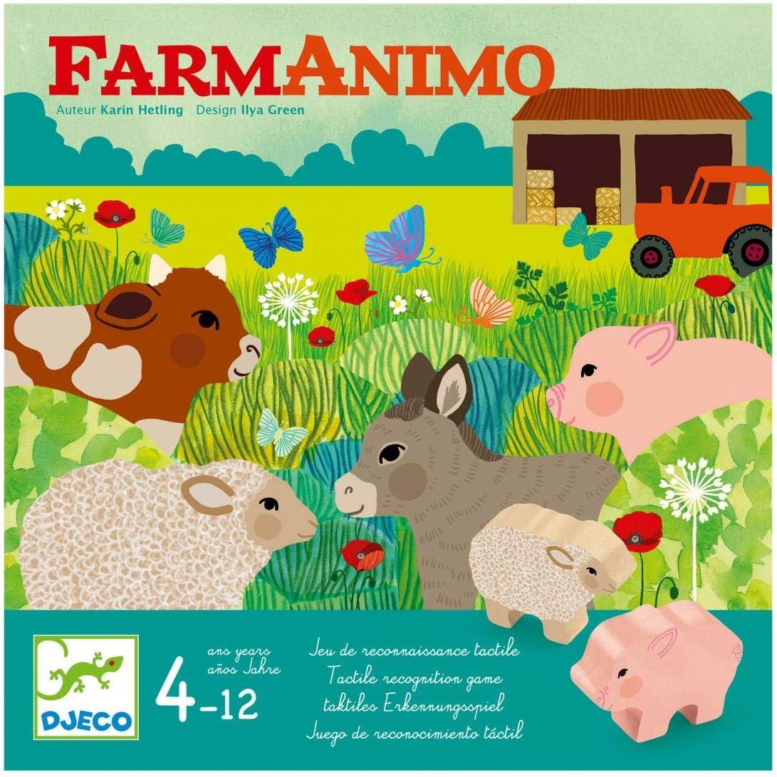 Djeco Juego FarmAnimo (38483), Multicolor (1): Amazon.es: Juguetes y juegos