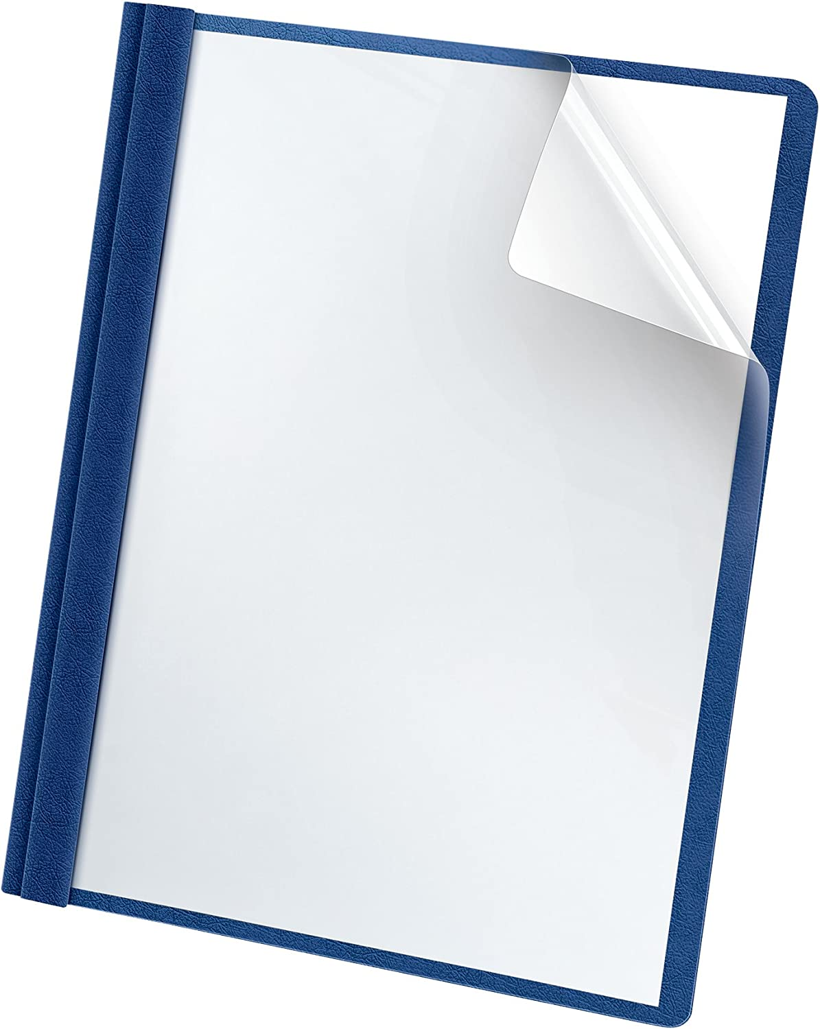 Oxford Premium Clear Front Report Covers, Blue, Letter Size, 25 per box (58801EE)